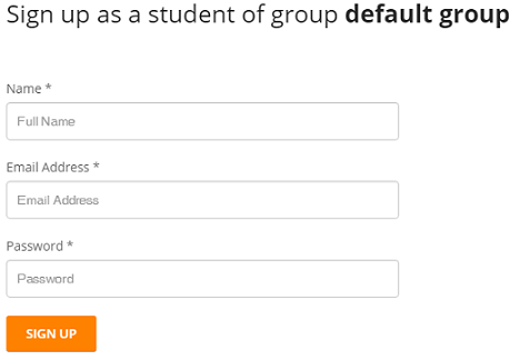 Students self registered to a group